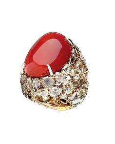 Pomellato ring. This seems like you should be a cardinal or someone high up in a religious order to wear this ring. This ring needs to be kissed all the time!     S.N.R: Couture Fineness . . .