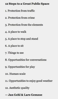 what makes a great public space? jan gehl explains.  #landscapingarchitecture