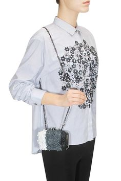Black grey white shaded bubbling over box clutch available only at Pernia's Pop Up Shop.#perniaspopupshop #suedebydevinajuneja #newcollection #festive #designer #accessories #bag
