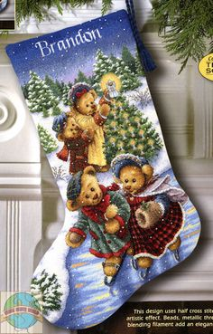 counted cross stitch kits stocking - Google Search