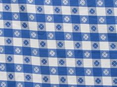 Merveilleux Vintage Blue And White Check Tablecloth