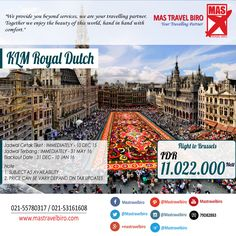 Flight to Brussels With KLM Royal Dutch Only IDR 11.022.000/Pax Nett PP , Book Now ! #klm #brussels #promo #europe