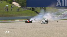 WATCH: Mercedes collision puts Hamilton and Rosberg out on lap 1