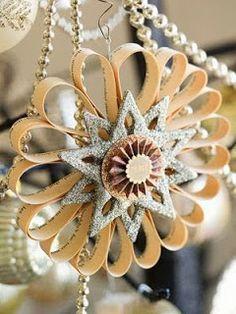 """creatief besparen en meer: """"zilveren ster ornament"""""""