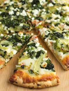 Caramelized Fennel, Spinach and Goat Cheese Pizza