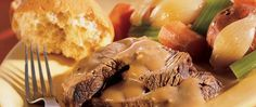 Looking for a hearty beef and vegetable dinner? Then try this tender and succulent pot roast that's baked to perfection.