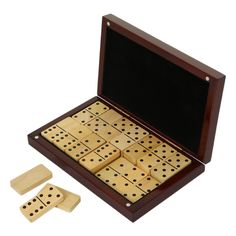 Wooden Dominoes & Box from Flamant Home Interiors