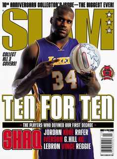 SLAM 77: Los Angeles Laker Shaquille O'Neal appeared on the cover of the 77th issue of SLAM Magazine (2004, cover 3 of 3).