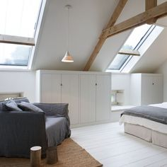 Four Attic Renovation Ideas to Give New Life to Unused Space - Attic Basement Ideas Bedroom Sets, House, Home Bedroom, Small Home Offices, Bedroom Interior, House Interior, Bedroom Inspirations, Sleeping Loft, Home Interior Design