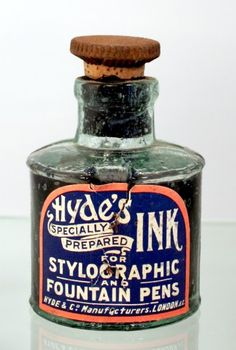 Old ink bottle