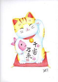 MY CAT - Meu gato da sorte Japonês - Mneki-Neko - zambayes