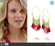 Phoebe's tassel earrings on Girlfriends Guide to Divorce.  Outfit Details: http://wornontv.net/54559/ #GG2D