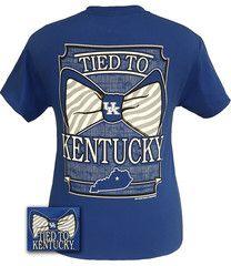 UK Kentucky Wildcats Big Blue Tied To Big Bow T-shirt | SimplyCuteTees