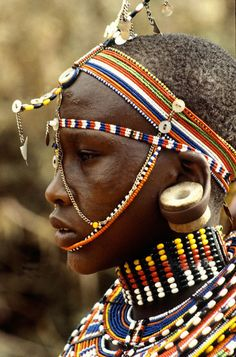 Africa | Maasai woman.  Kenya | ©Don Carl Steffen