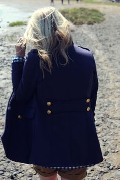<3 this coat, there's just something about navy that's so sophisticated!