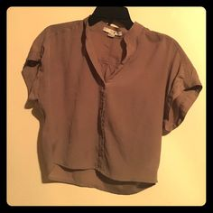 Blouse Button-down, cropped Forever 21 Tops Blouses