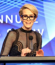 Pin for Later: Sarah Paulson Has the Loving Support of Holland Taylor on Her Big Night