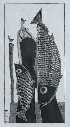 David Witbeck_Ray II Woodcut