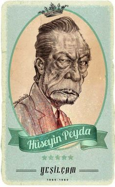 #Yesilcam Turkish Cinema Actor Hüseyin Peyda #Illustration by Hakan Arslan
