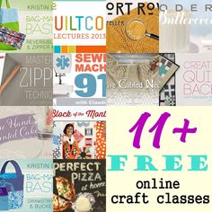 Free online craft classes. Ever wanted to improve your craft and sewing skills by taking up classes?  Here's your chance to take FREE classes from the comfort of your home.  Check out the list now for 11+free classes