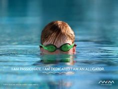 I am passionate. I am dedicated. I am an alligator. Swimming - The #FunnestSport there is!
