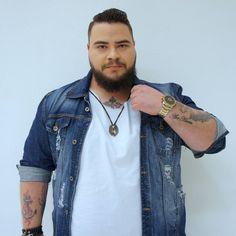Chubby Men Fashion, Mens Plus Size Fashion, Big Men Fashion, Look Fashion, Plus Size Men, Look Plus Size, Sweat Shirt, Modelos Plus Size, Men Style Tips