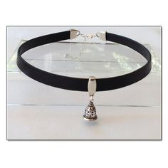 Slave Bell Black Leather Collar Choker BDSM Collar Submissive BDSM... ($26) ❤ liked on Polyvore featuring jewelry, necklaces, choker jewelry, choker collar necklace, collar jewelry, collar choker and collar necklace