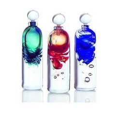 artistic liquor glass bottles