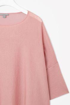 Sheer panel knit top