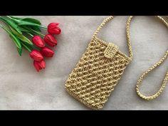 Baby Knitting Patterns, Hand Knitting, Crochet Phone Cases, Crochet Bag Tutorials, Patchwork Bags, Crochet Purses, Knitted Bags, Handmade Bags, Mini Bag