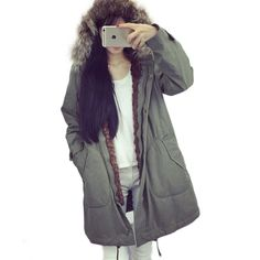 Cheap hoodie ladies, Buy Quality fur trimmed hoodie directly from China fur craft Suppliers: 2016 Winter Fashion Down Cotton Women Coats Basic Long Jacket Fur Collar Duster Parkas Warm Clothing Ladies Gray Pink Ou