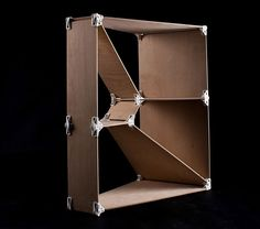 olle-gellert-3D-printed-joint-collection-designboom-02 a sample bookcase built from the 3D printed joints