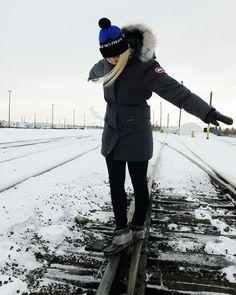 White Canada Goose coat  -  my favorite winter gear