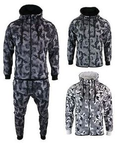 32753c227244 Sweats and Tracksuits 175778  Mens Camo Army Tracksuit Combat Zip Hoodie Top  Elasticated Bottoms Tailored Fit -  BUY IT NOW ONLY   22.99 on eBay!