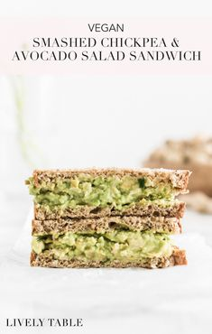 This delicious smashed chickpea and avocado salad is a sustainable, plant-based option reminiscent of tuna salad! (#vegan, #nutfree, #glutenfree) #picnic #earthday #recipes #lunch #chickpeas #avocado #sustainability #ecofriendly #easy #plantbased
