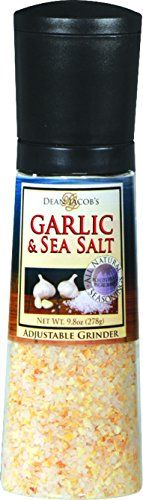 Dean Jacobs Garlic and Sea Salt Jumbo Grinder ** Want additional info? Click on the image.
