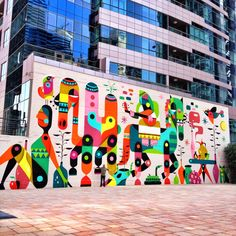 Pin by helsinki urban art on murals - illustrations граффити, искусство, ро Murals Street Art, Street Art Graffiti, Mural Art, Wall Murals, Wall Art, Design Poster, Spanish Artists, Public Art, Bunt