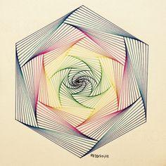 Art Optical, String Art Patterns, Spirograph, Math Art, Illusion Art, Zen Doodle, Zentangle Patterns, Op Art, Pattern Art