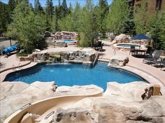 A fun pool - waterpark/slide! :D    Condo vacation rental in Keystone from VRBO.com! #vacation #rental #travel #vrbo