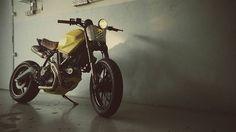 Ducati Scrambler Street Tracker - The Garage KL - Beautiful Machines #motorcycles #streettracker #motos | caferacerpasion.com
