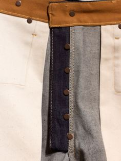 Type 2: Continuous band, applied here to a jeans fly as in some very vintage examples.  Rising Sun Blacksmith Jean Indigo Raw - Denim Heads - Only The Best