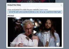 Facebook permitirá incrustar los videos de su red en otros sitios web