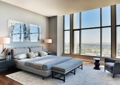 Carlyle Residence Penthouse in Los Angeles, California by @MinottiLA via @HomeDSGN