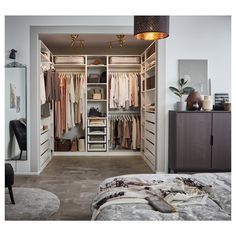 Walk In Closet Design, Bedroom Closet Design, Room Ideas Bedroom, Home Room Design, Closet Designs, Bedroom Decor, Bedroom Furniture, Master Bedroom Closet, Ikea Pax Wardrobe