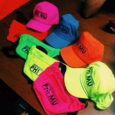 Bid Day Hats & Fanny Packs Idea! Start a custom order today at Adam Block Design | Custom Greek Apparel & Sorority Clothes | www.adamblockdesign.com