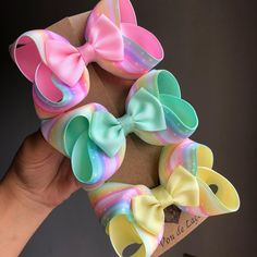 Light Pink and Lavender Stacked Boutique Hair Bow~ Gift for Child~ Photo Prop~ Birthday Bow~ Gift for Her~ Gorgeous Hair Bow~ Cute Hair Bow by GhinesCreations on Etsy Big Hair Bows, Making Hair Bows, Ribbon Hair Bows, Diy Ribbon, Ribbon Crafts, Ribbon Flower, Flower Hair, Stacked Hair, Hair Bow Tutorial