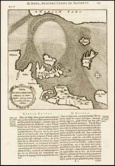 Kircher's map of the North Atlantic, 1682