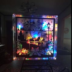 Decorative Glass Block made by Cissi Anderson using my Dashing through the Snow File Loving the colored lights!