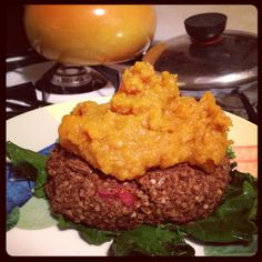 Nutritious and Delicious: Delicate Princess Tummy Style: Black Bean and Millet Veggie Burgers