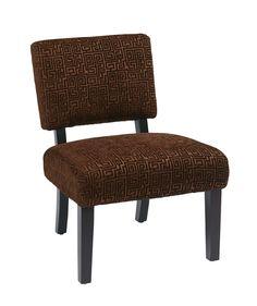 Office Star Jasmine Accent Chair in Maze Chocolate [JAS-X38]